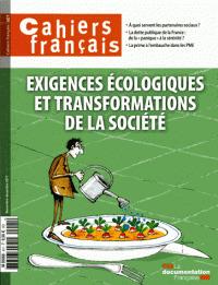 Cahiers français. . 401, Exigences écologiques et transformations de la société |